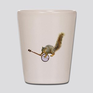 Squirrel with Banjo Shot Glass