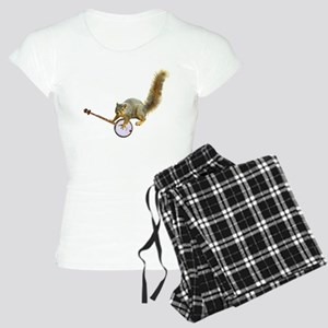 Squirrel with Banjo Women's Light Pajamas