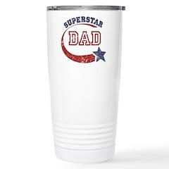 Vintage Superstar Dad Stainless Steel Travel Mug