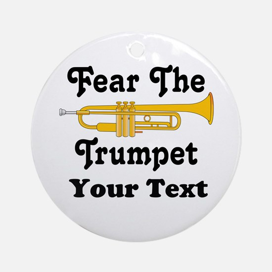 Personalized Fear The Trumpet Ornament