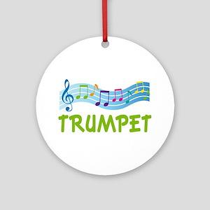 Trumpet Ornament Gift (Music Staff)