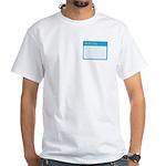 Blank Nametag White T-Shirt