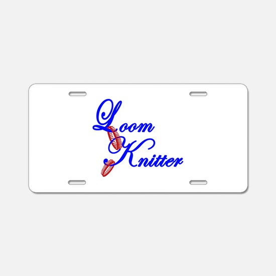 Loom Knitter Aluminum License Plate