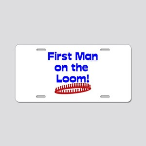 Loom Knitting Man Aluminum License Plate