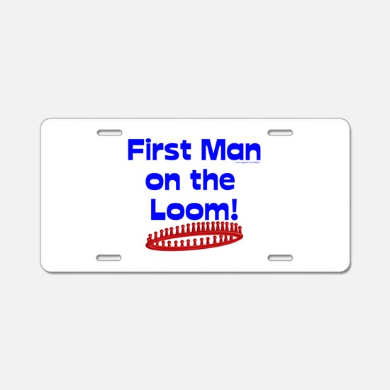 Loom Knitting Man Aluminum License Plate