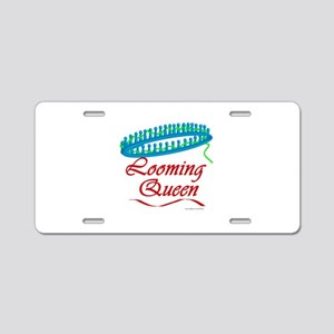 Looming Queen Aluminum License Plate