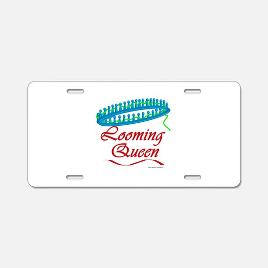 Looming Queen Aluminum License Plate