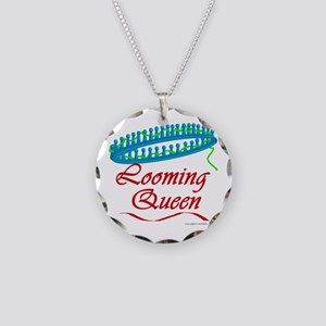 Looming Queen Necklace Circle Charm