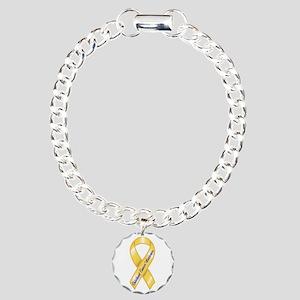 Charm Bracelet 1 Charm (GOLD = Cure 4 Kids Cancer)