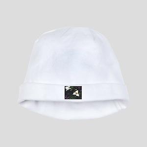 """Trillium"" watercolor baby hat"