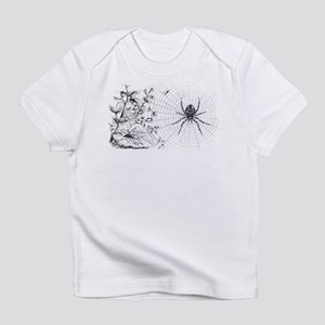 Creepy Spider Web Line Art Infant T-Shirt