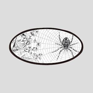 Creepy Spider Web Line Art Patches