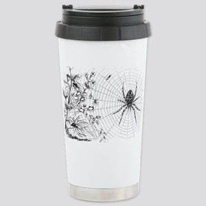 Creepy Spider Web Line Art Stainless Steel Travel