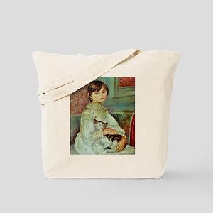 Renoir's Girl with Cat Tote Bag