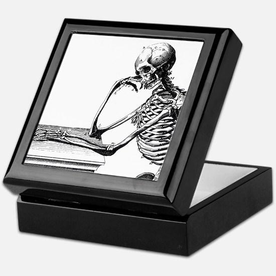 Thinking Skeleton Keepsake Box