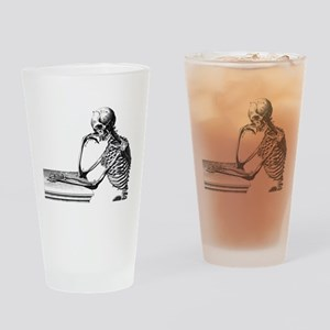 Thinking Skeleton Drinking Glass