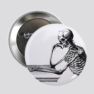 "Thinking Skeleton 2.25"" Button"