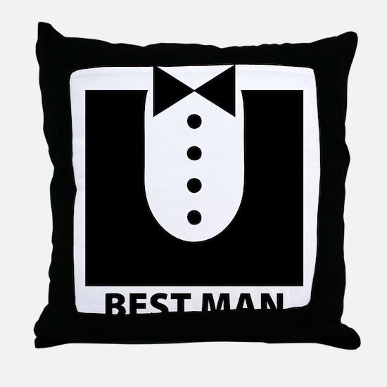 Best Man Throw Pillow