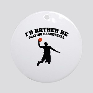 Playing basketball Ornament (Round)
