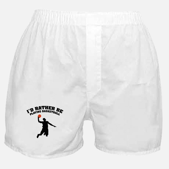 Playing basketball Boxer Shorts