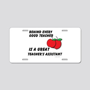 Great Teacher's Assistant Aluminum License Plate