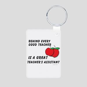 Great Teacher's Assistant Aluminum Photo Keychain