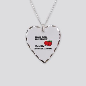 Great Teacher's Assistant Necklace Heart Charm