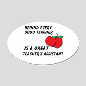 Great Teacher's Assistant 22x14 Oval Wall Peel