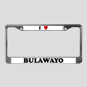 I Love Bulawayo License Plate Frame