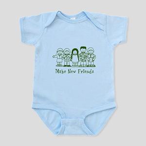 Make New Friends (green) Infant Bodysuit
