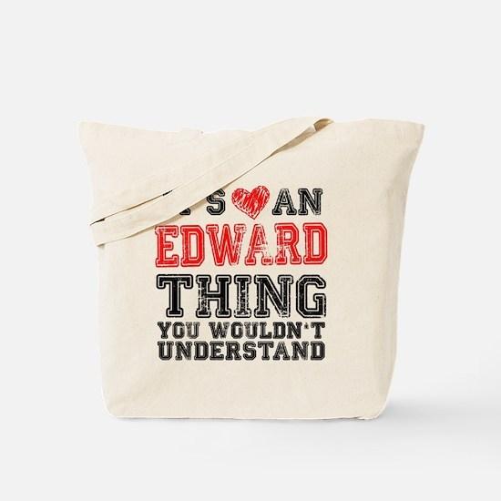 Red Edward Thing Tote Bag