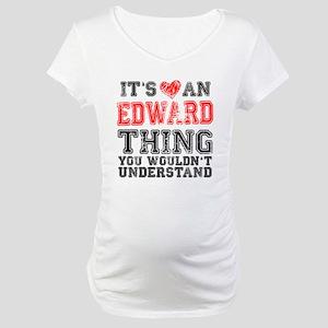 Red Edward Thing Maternity T-Shirt