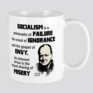 Churchill Socialism Quote Mug