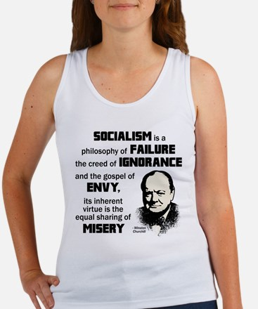 Churchill Socialism Quote Women's Tank Top