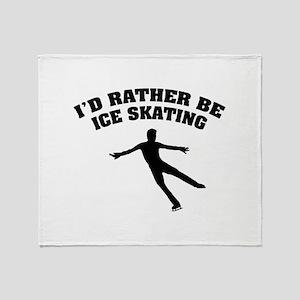 Ice Skating Throw Blanket
