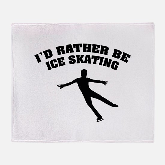 Ice Skating Throw Blanket