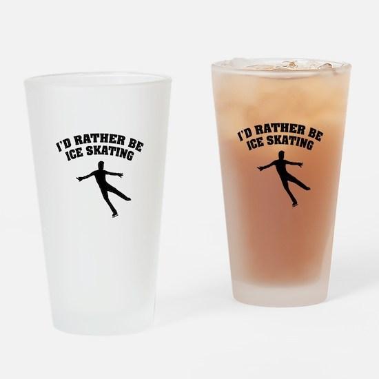 Ice Skating Drinking Glass