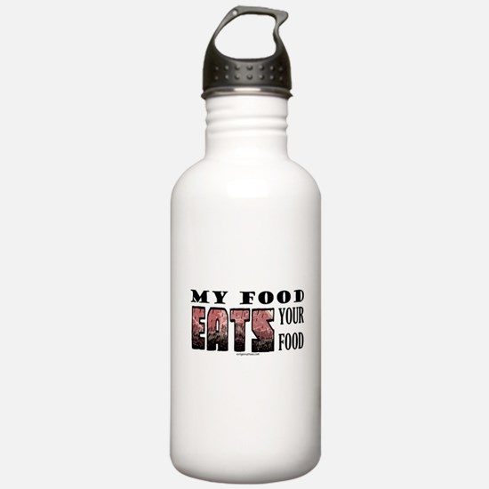 My food eats your food Water Bottle