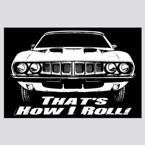 How I Roll - 'Cuda Large Poster