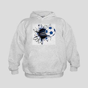 Soccer Ball Burst Kids Hoodie