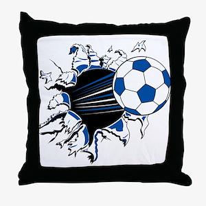 Soccer Ball Burst Throw Pillow