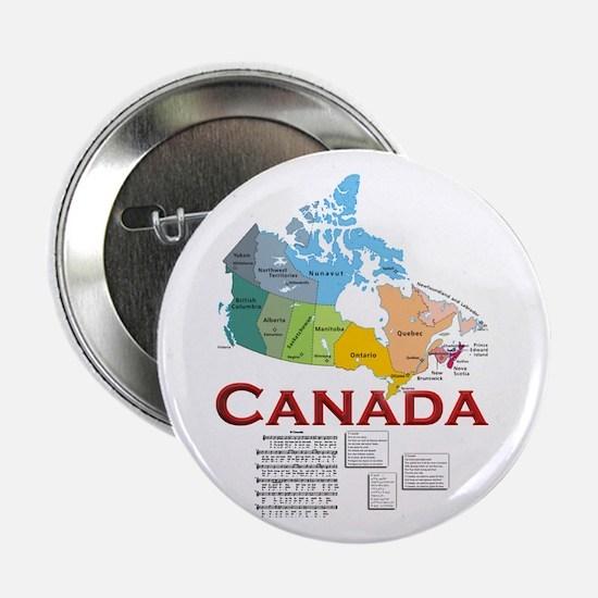 """O Canada: 2.25"""" Button"""