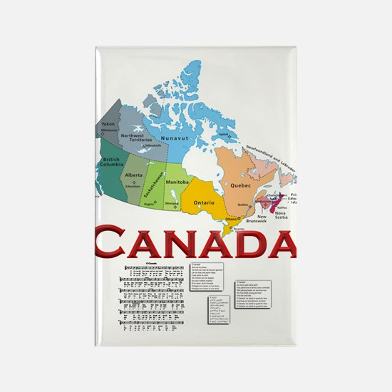 O Canada: Rectangle Magnet