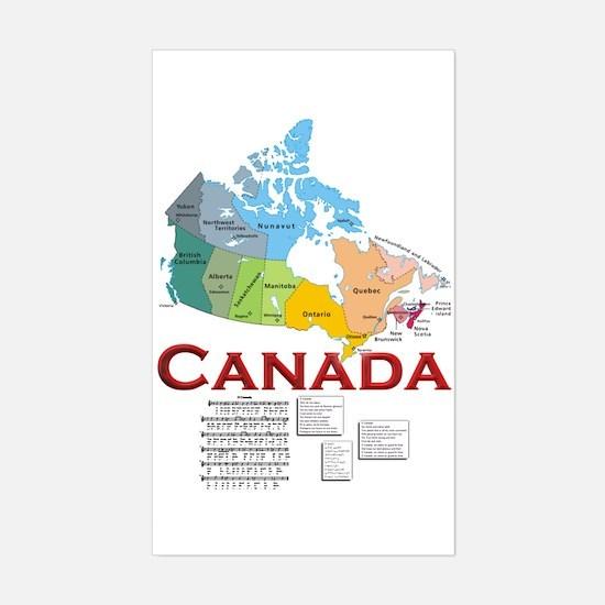 O Canada: Sticker (Rectangle)