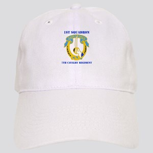 DUI - 1st Sqdrn - 7th Cavalry Regt with Text Cap