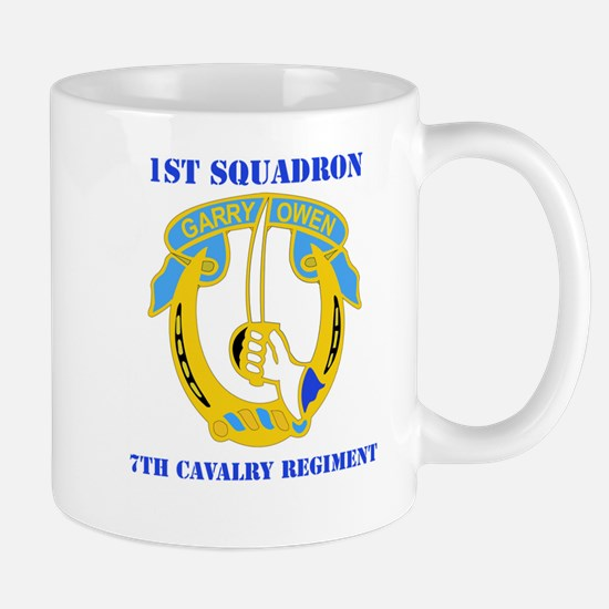 DUI - 1st Sqdrn - 7th Cavalry Regt with Text Mug