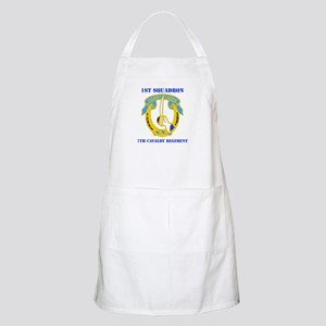DUI - 1st Sqdrn - 7th Cavalry Regt with Text Apron