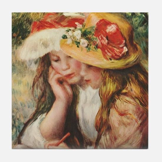 Young Artists, Renoir Tile Coaster