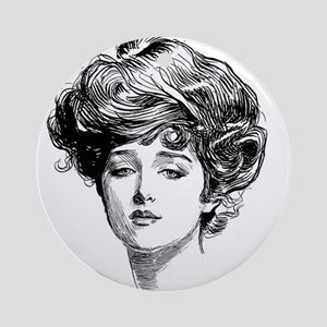 Gibson Girl Ornament (Round)