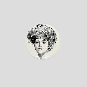 Gibson Girl Mini Button